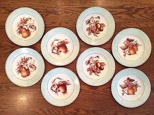 SET 8 RALPH LAUREN china FRUIT BLOSSOM SALAD DESSERT PLATES Designs I~II~III~IV