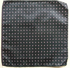 Hankie Pocket Square Handkerchief MENS Hanky NAVY BLUE RED WHITE PAISLEY