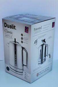 Dualit Classic Kettle - 1.7L - Polished Stainless Steel - Black Trim 72815