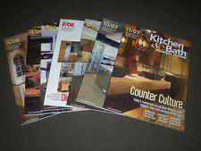 2007-2008 KITCHEN & BATH DESIGN NEWS MAGAZINE LOT OF 7 - GREAT COVERS - PB 911