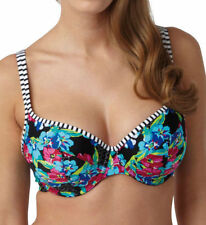 Panache Floral Plus Size Bikini Tops for Women