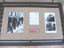 """Rolling Stones Band Signed 17""""x31"""" Display Vintage W/ Brian Jones PSA Certified"""