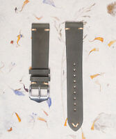 Matte Green Genuine Leather Vintage Style Watch Strap 18mm,20mm, 22mm