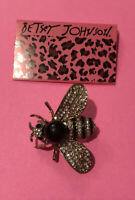 Betsey Johnson Honey Bee Rhinestones Brooch NWT ~Free Shipping~