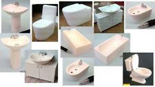 1:12 casa de muñecas en miniatura de accesorios de baño blanco moderno 11 para elegir.