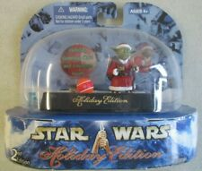 2003 Star Wars Holiday Edition Yoda Figure Moc Christmas Hasbro