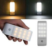 12LED USB Rechargeable Mouvement Induction Capteur Placard Veilleuse Lampe R4L7