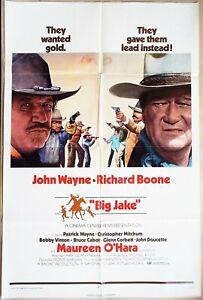Big Jake 1971 John Wayne Richard Boone Original US One Sheet Poster