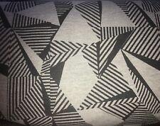 25 cm French Terry Sweat Jersey Geometrische Muster Retro Auf Grau Bielefeld