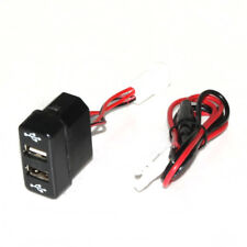 12V 24V Dash Dashboard Panel Dual USB Port 3A Outlet For Man TGA TGM TGL Truck