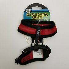Four Paws Dog Comfort Control Harness XS (3-4 lbs) Red Air Mesh