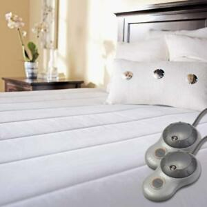 Sunbeam Quilted Polyester Heated Mattress Pad, Full
