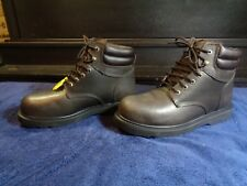 COLEMAN LACE UP STEEL TOE WORK/ MOTORCYCLE BROWN LEATHER WORK BOOTS 10.5