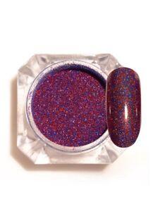 Starry Holographic Laser Powder Nail  Glitter Powder Blue & Red 1.5g Born Pretty