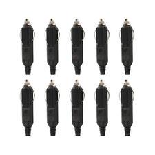 10x Male Car Cigarette Lighter Socket Plug Connector w/ Fuse Red LED 12-24V 10A