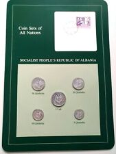 Coin Sets of All Nations Set in Postmarked card - Albania