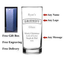 Personalised HighBall Smirnoff Glass, Christmas Gift