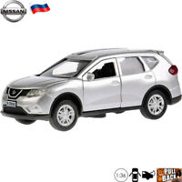 Diecast Car Scale 1:36 Nissan X-Trail Silver Colored Russian Model Car