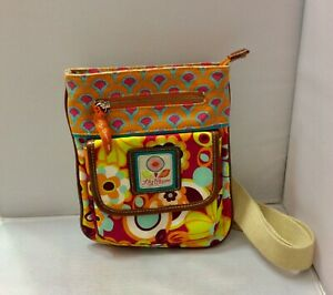 Lily Bloom Small Multi Color Floral Crossbody Messenger Bag