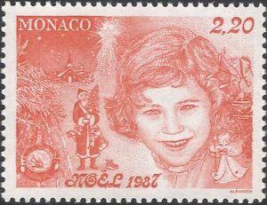 Monaco 1987 Christmas/Greetings/Santa Claus/Girl/Tree/Bauble/Angel 1v (mc1130)