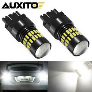 For GMC Sierra 1500 1999-2013 3156 3157 White LED Backup Reverse Light Bulb 2x