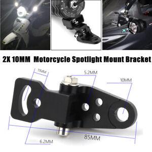 2X 10MM Motorcycle Modified Handlebar Rearview Mirror Base Turn Signal Bracket
