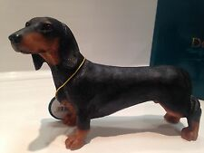 Black And Tan Minature Standard Daschund Ornament Dog Gift Figure Figurine