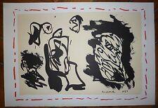 Alechinsky Lithographie originale sur velin art abstrait abstraction cobra