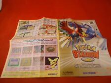 Pokemon Stadium 2 Nintendo 64 N64 GERMAN Promo Mini Poster Insert ONLY