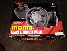Logitech MOMO Racing Force Feedback Steering Wheel USB w/ Pedals for PC