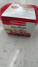 RUBBERMAID TAKEALONGS 4 PACK FOOD STORAGE CONTAINER