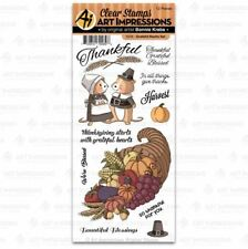 Art Impressions Clear Stamp Set ~ GRATEFUL HEARTS SET  Thanksgiving -5039