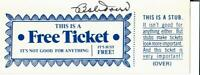 """Boston Red Sox"" Bobby Doerr Hand Signed Ticket JG Autographs COA"
