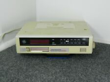 Ge Spacemaker Clock Radio Cassette Tape Player #7-4260A Under Counter Vintage
