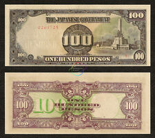 One 100 Pesos 1943 WW2 Japanese Occupation Note VF- XF Great As A Birthday Gift