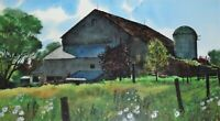 "DON PATTERSON SIGNED ORIGINAL WATERCOLOR PAINTING OF A BARN ""ZOGGS BARN"""