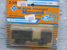 NEW OS Roco Minitanks / Herpa Modern West German Unimog Ambulance Truck Lot #996
