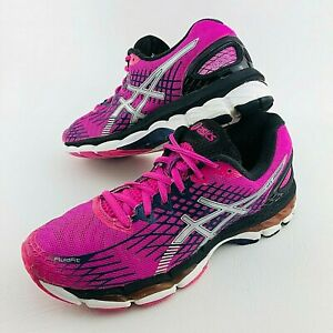 Asics Gel Nimbus 17 Running Shoes Sneakers Womens 8 US Trainers Pink