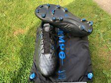 Nike Tiempo Legend 8 Elite FG, UK 12, Black/Black Blue Hero, VGC