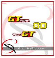 1979 GT80F GT80  YAMAHA OIL TANK SIDE COVER DECAL  ONLY
