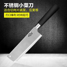 Santoku Knife Kitchen Chef Slicing Fruit Vegetable Black Handle Hole Silver Chef