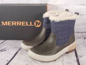 Merrell - Waterproof Ankle Boots - Haven Bluff Polar - Peacoat Blue - 6 M
