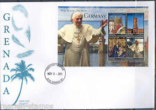GRENADA POPE BENEDICT XVI VISITS GERMANY SHEET I  FIRST DAY COVER