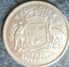 1938 Australian Silver 2/- Two Shilling ( Key Date) KING GEORGE VI (very Nice)