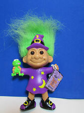 "Halloween Wizard With Frog - 5"" Russ Bendable Troll Doll - New In Bag"