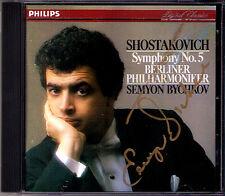 Semyon BYCHKOV Signiert SHOSTAKOVICH Symphony No.5 Berliner Philharmoniker CD