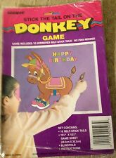 Stick the Tail on the DONKEY Game Self Stick Tails Blindfold Boys & Girls