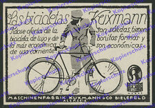 La pubblicità cava vino BICICLETTA ciclisti bike Maschinenfabrik kuxmann Bielefeld 1929
