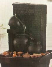 Small Stone Effect Water Fountain Multi Level With Led
