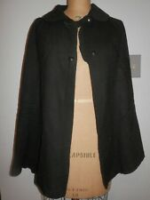 Antique Estate Victorian Black Wool Felt Cape Edwardian Costume Repair AsIs 0310
